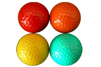 colorful golf ball