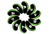 Color combination golf iron covers