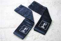 velvet pile embroidery golf towel